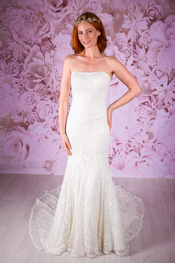BL222 stunning ivory lace gown by Victoria Kay
