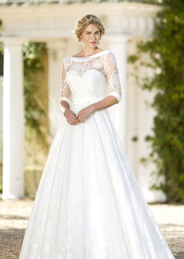 True Bride W261 ivory bridal gown and bolero jacket